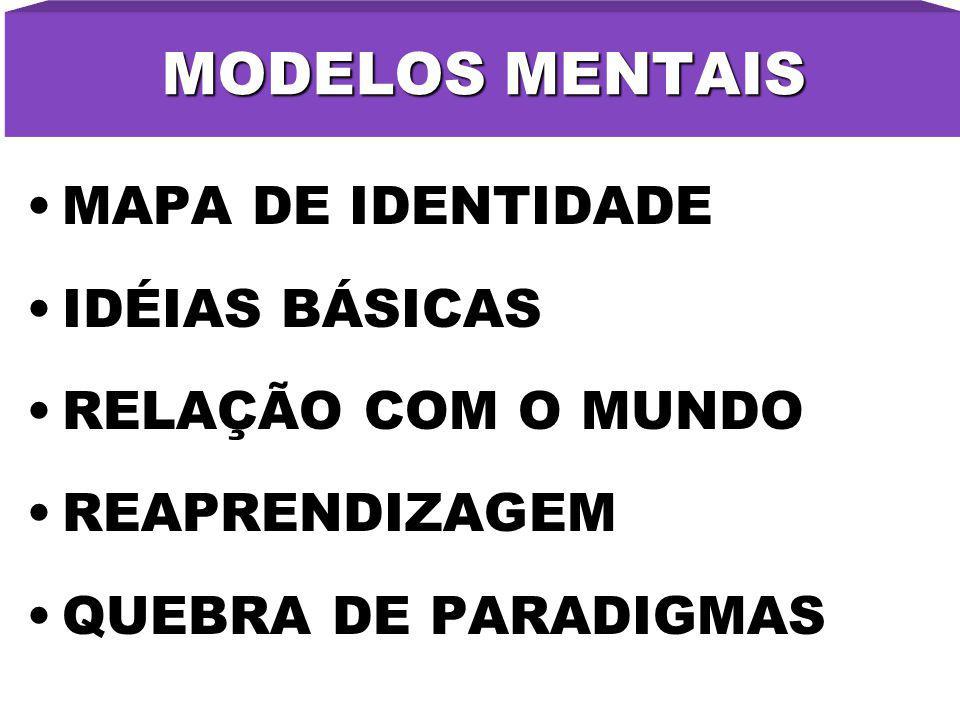 MODELOS MENTAIS MAPA DE IDENTIDADE IDÉIAS BÁSICAS RELAÇÃO COM O MUNDO