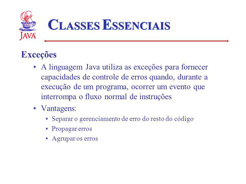 CLASSES ESSENCIAIS Exceções