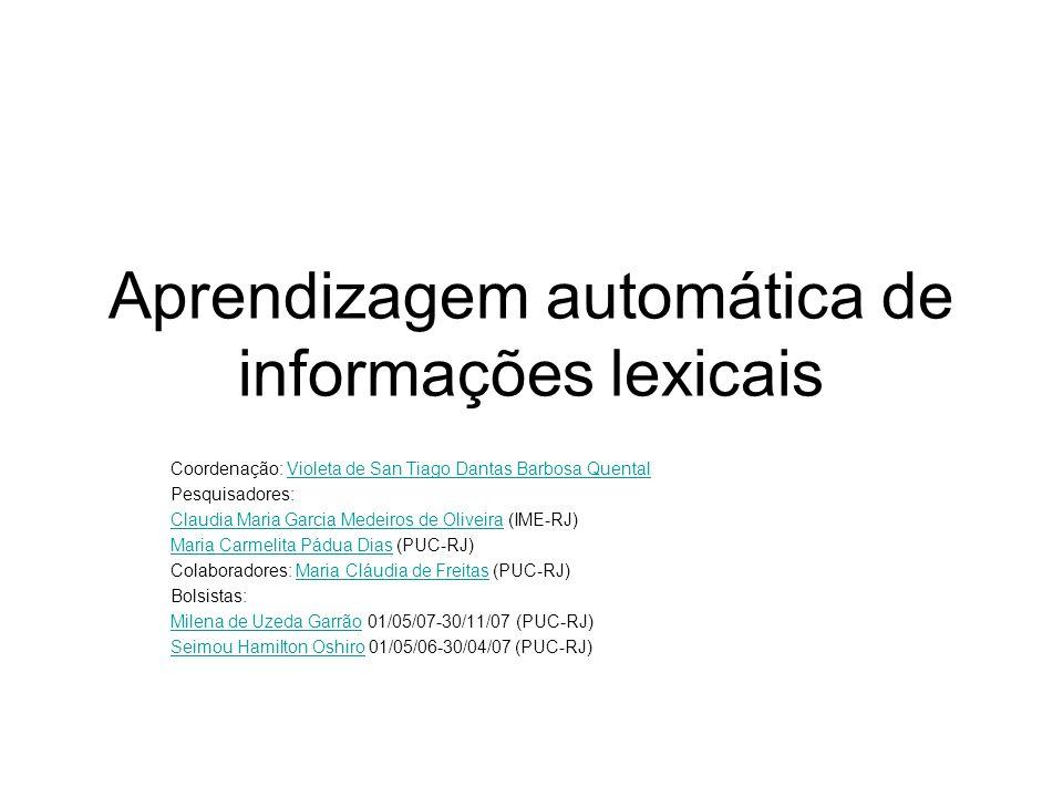 Aprendizagem automática de informações lexicais