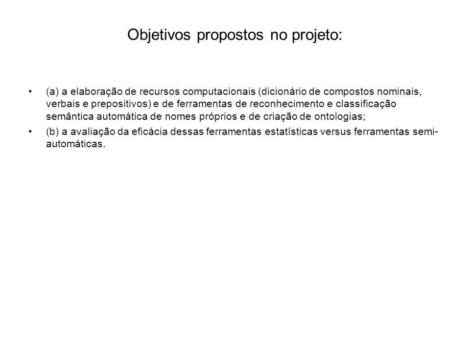Objetivos propostos no projeto: