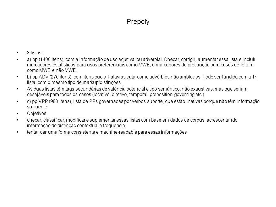 Prepoly 3 listas:
