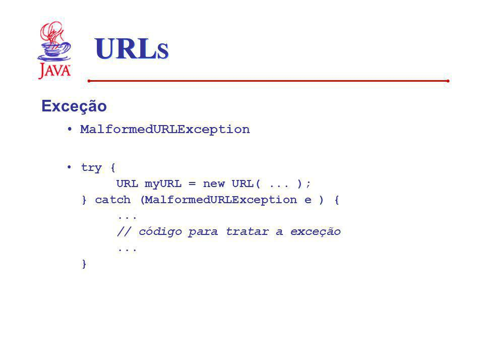 URLS Exceção MalformedURLException