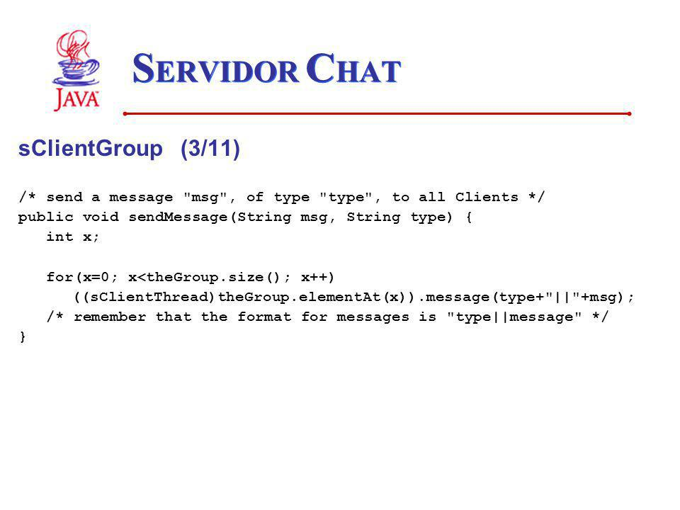 SERVIDOR CHAT sClientGroup (3/11)