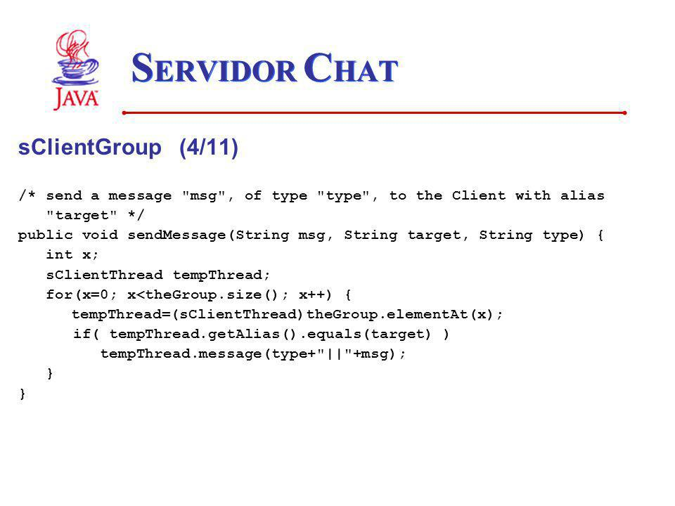 SERVIDOR CHAT sClientGroup (4/11)