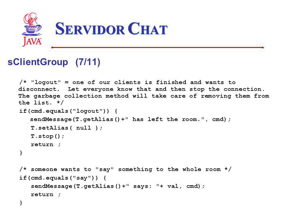 SERVIDOR CHAT sClientGroup (7/11)