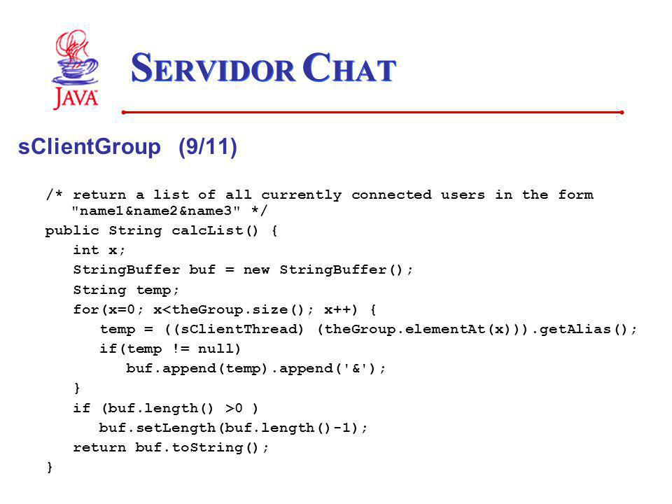 SERVIDOR CHAT sClientGroup (9/11)
