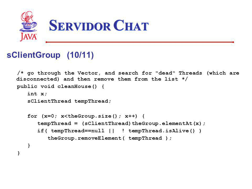 SERVIDOR CHAT sClientGroup (10/11)