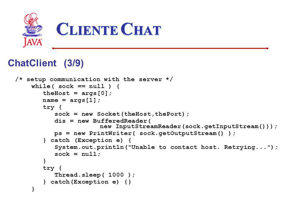 CLIENTE CHAT ChatClient (3/9)