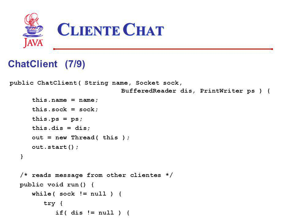 CLIENTE CHAT ChatClient (7/9)