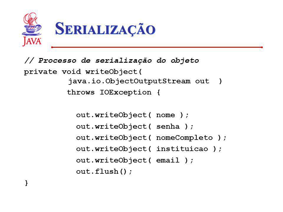 SERIALIZAÇÃO // Processo de serialização do objeto