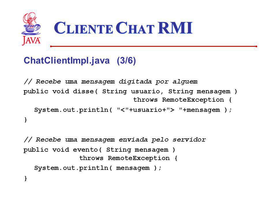 CLIENTE CHAT RMI ChatClientImpl.java (3/6)
