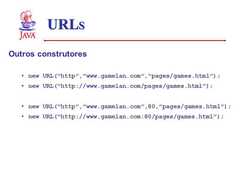 URLS Outros construtores