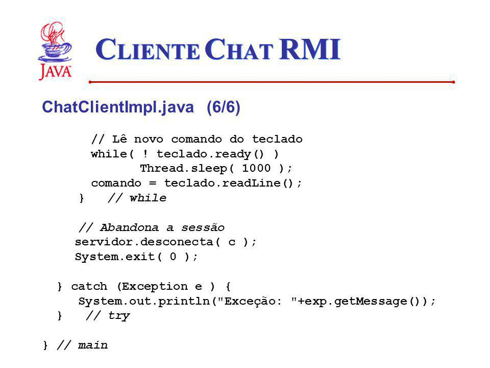 CLIENTE CHAT RMI ChatClientImpl.java (6/6)