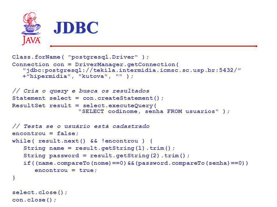 JDBC Class.forName( postgresql.Driver );