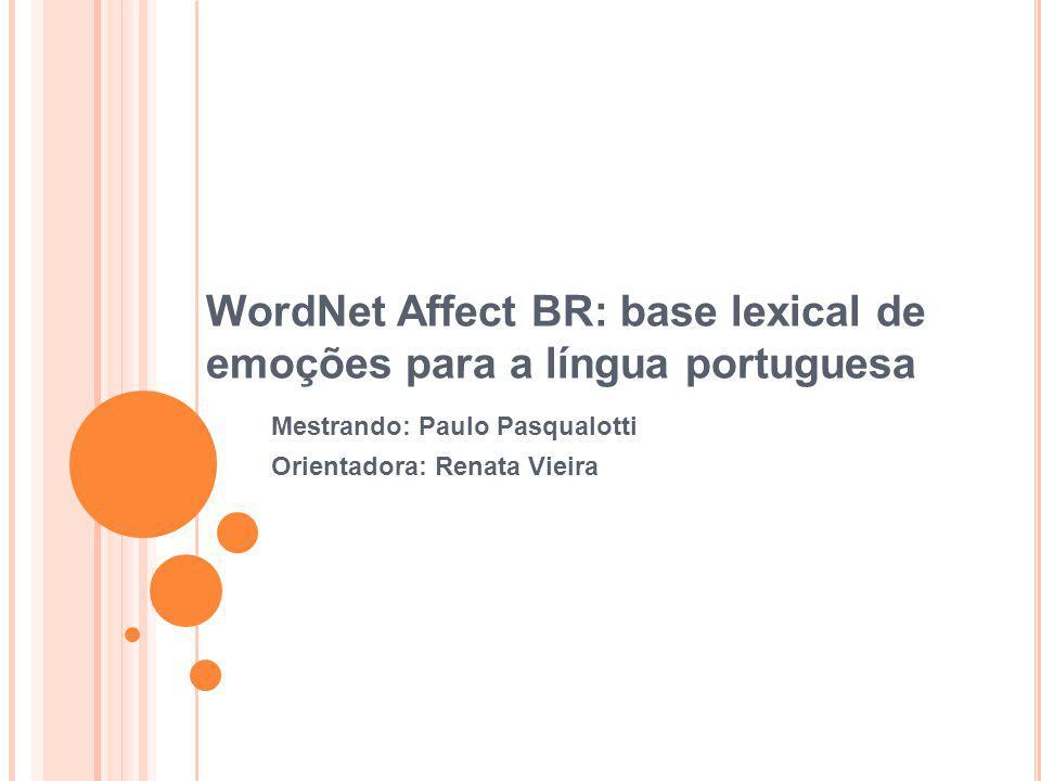 WordNet Affect BR: base lexical de emoções para a língua portuguesa