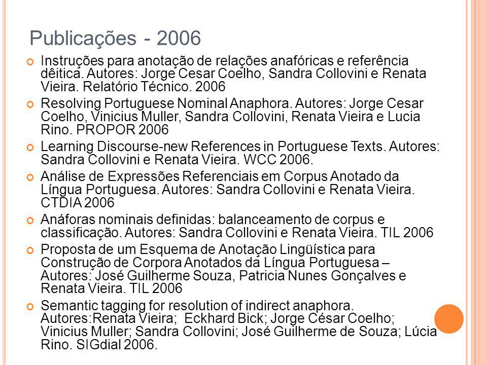 Publicações - 2006