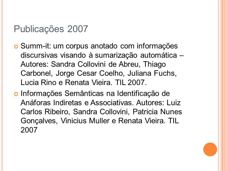 Publicações 2007