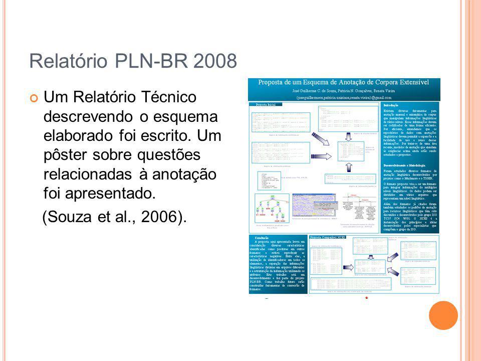 Relatório PLN-BR 2008