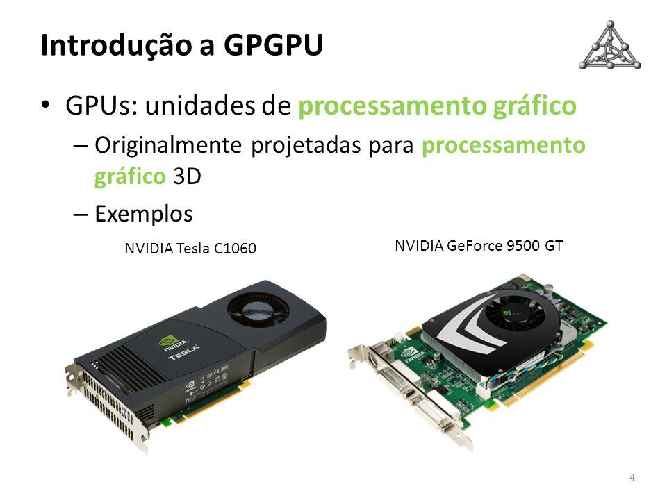 Introdução a GPGPU GPUs: unidades de processamento gráfico