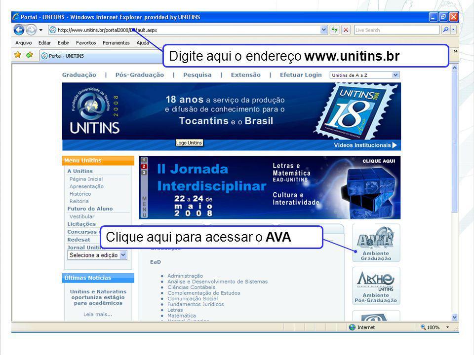 Digite aqui o endereço www.unitins.br