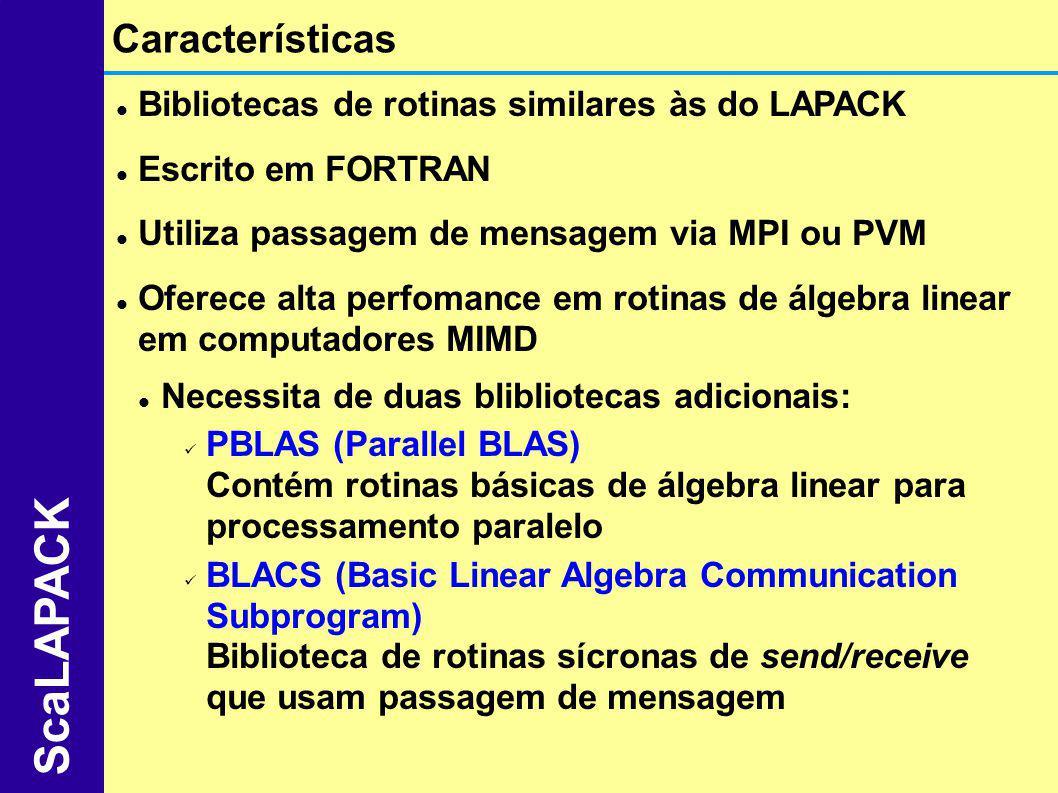 ScaLAPACK Características