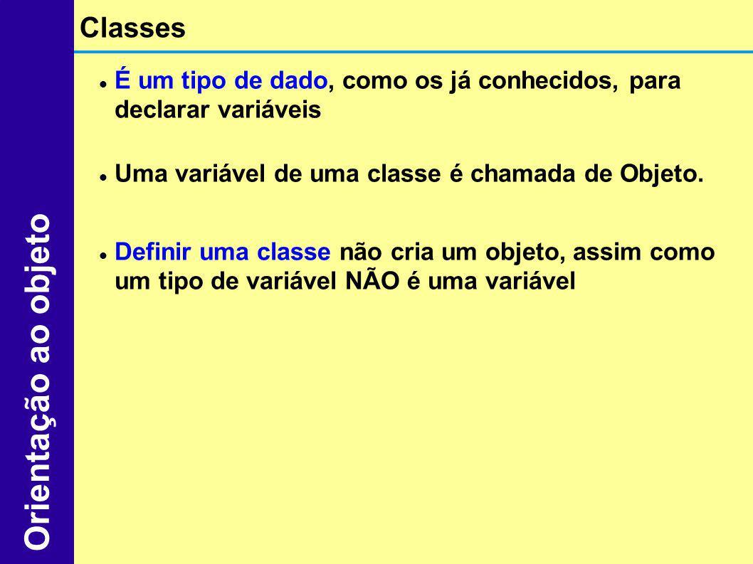 Orientação ao objeto Classes