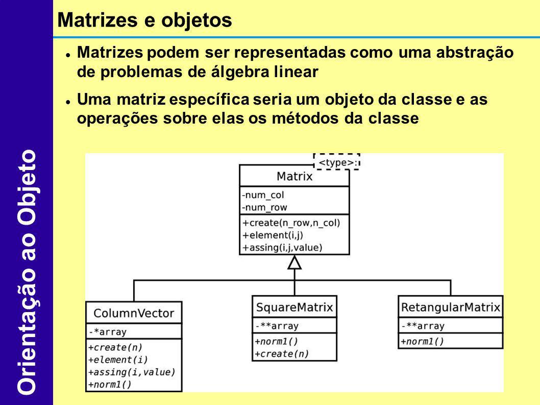 Orientação ao Objeto Matrizes e objetos