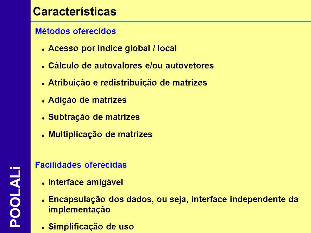 POOLALi Características Métodos oferecidos