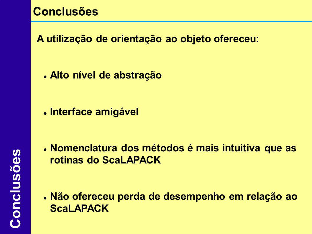 Conclusões Conclusões A utilização de orientação ao objeto ofereceu: