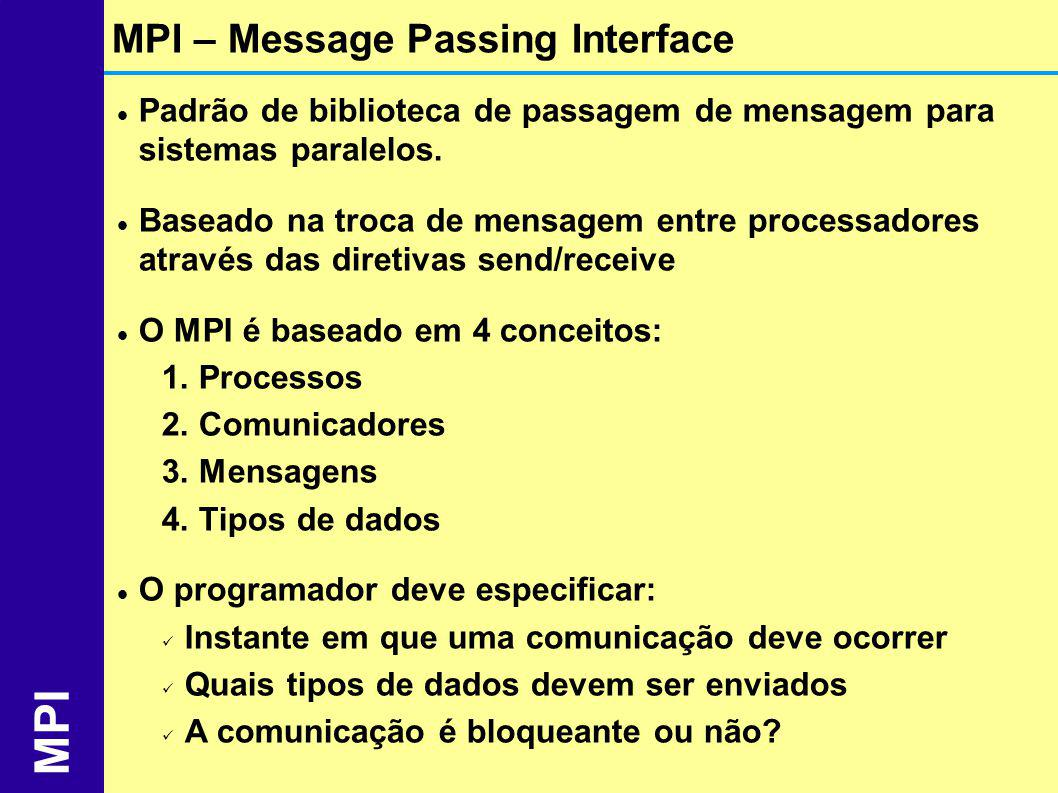 MPI MPI – Message Passing Interface