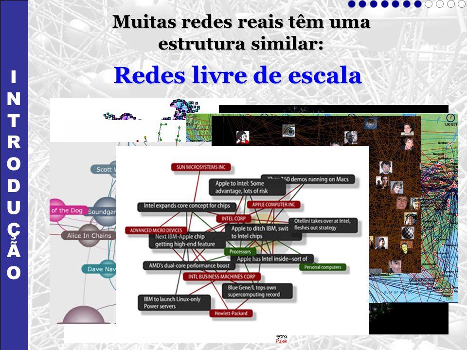 Muitas redes reais têm uma estrutura similar: