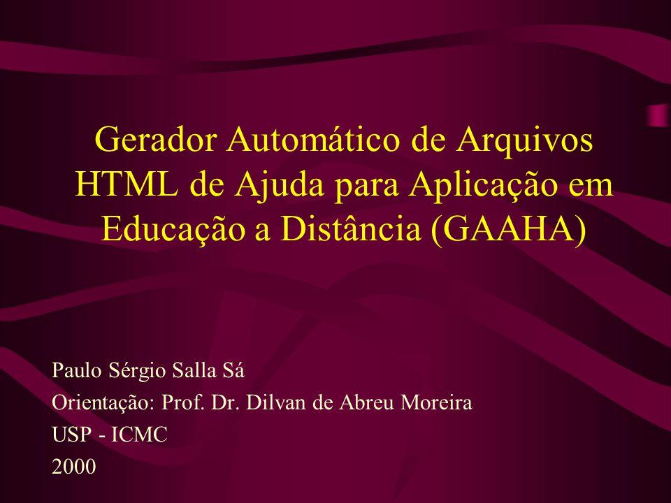 Gerador Automático de Arquivos HTML de Ajuda para Aplicação em Educação a Distância (GAAHA)