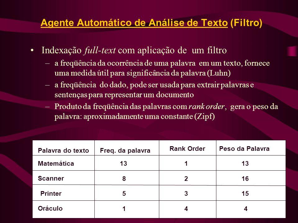 Agente Automático de Análise de Texto (Filtro)