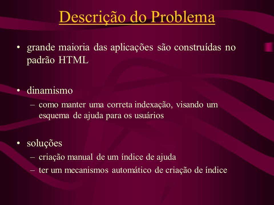 Descrição do Problema grande maioria das aplicações são construídas no padrão HTML. dinamismo.