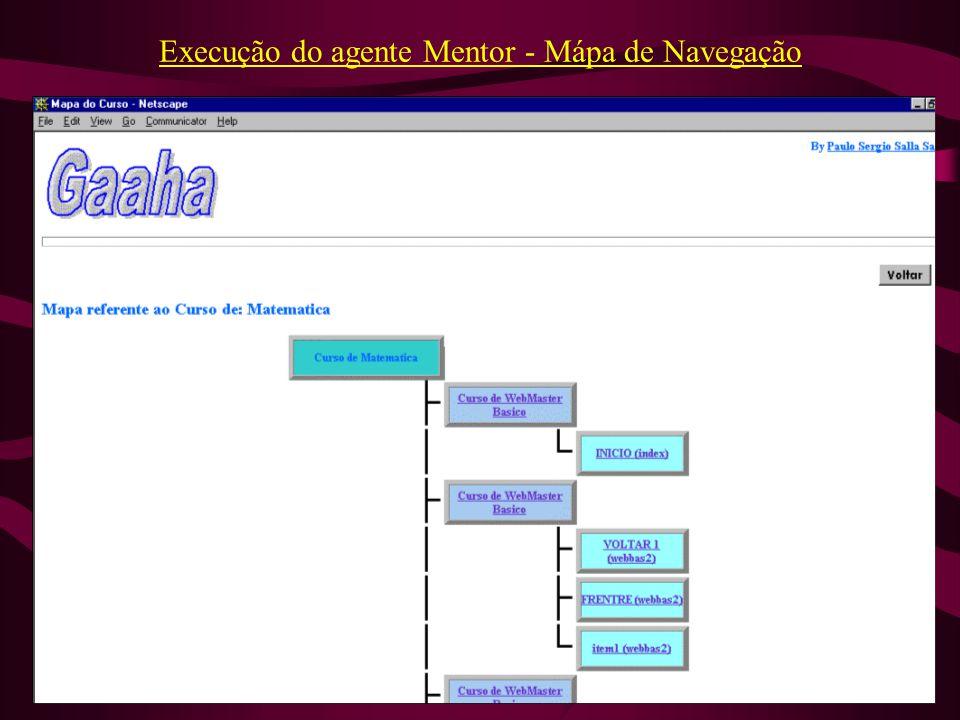 Execução do agente Mentor - Mápa de Navegação