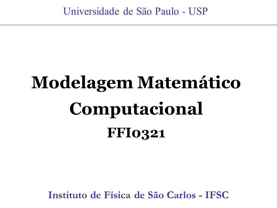 Modelagem Matemático Computacional
