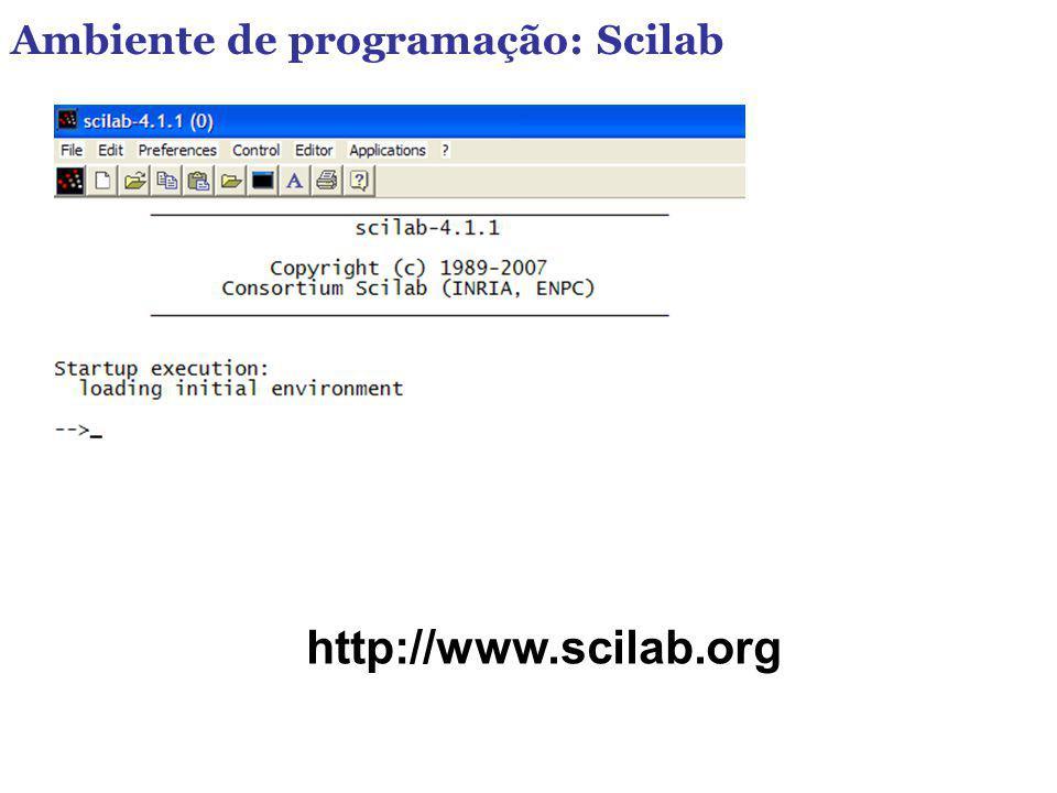 Ambiente de programação: Scilab