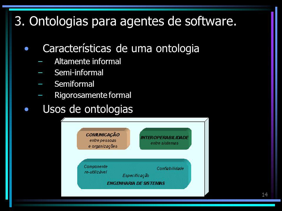 3. Ontologias para agentes de software.