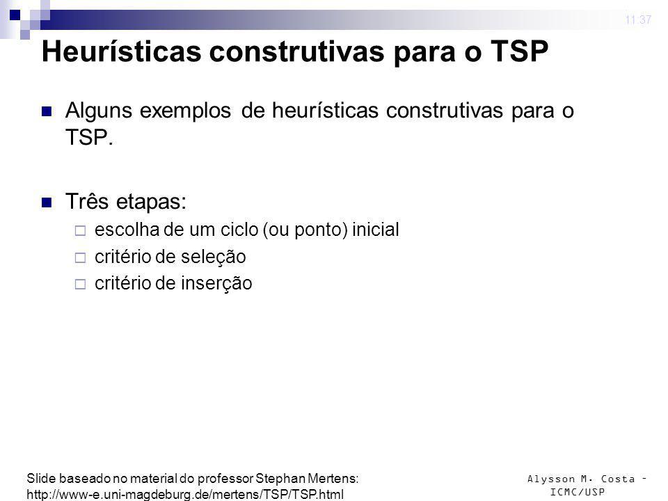 Heurísticas construtivas para o TSP