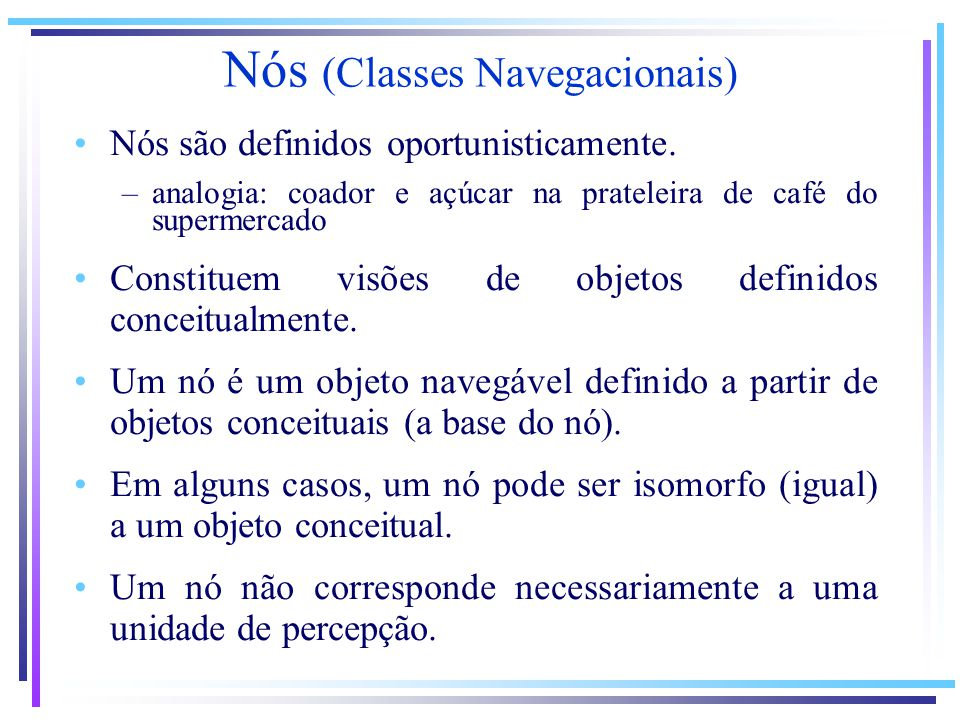 Nós (Classes Navegacionais)