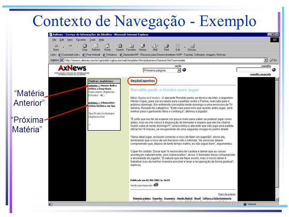 Contexto de Navegação - Exemplo