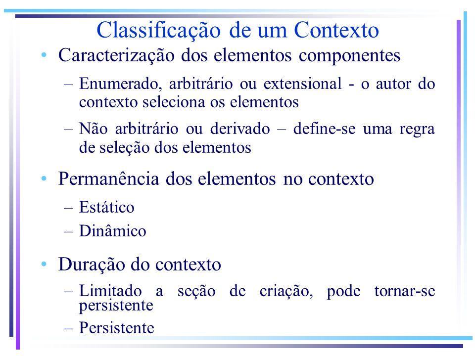 Classificação de um Contexto