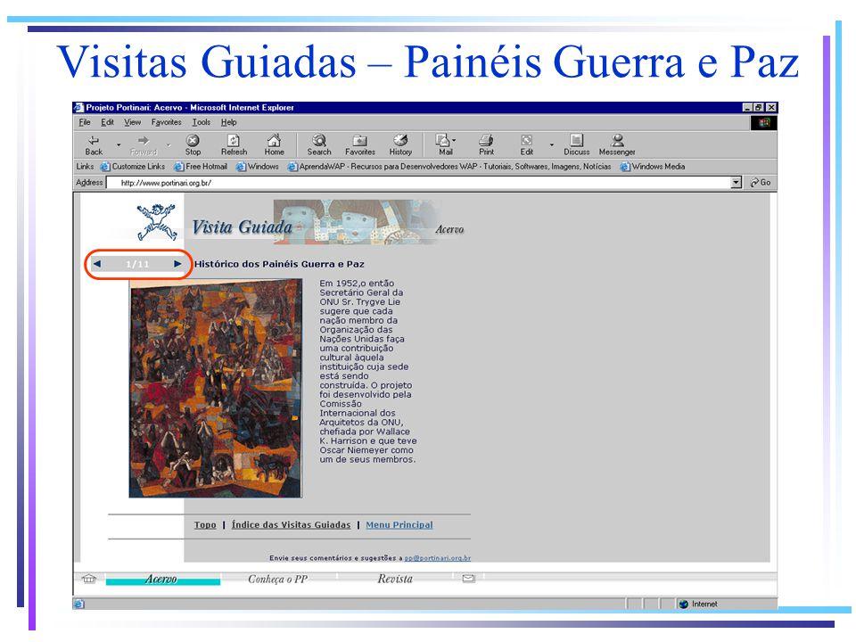 Visitas Guiadas – Painéis Guerra e Paz