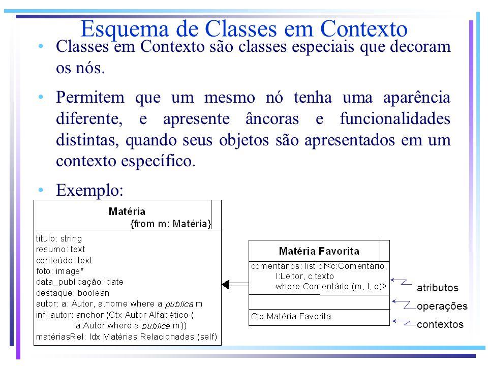 Esquema de Classes em Contexto
