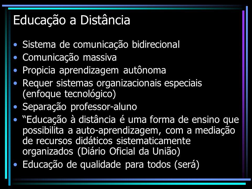 Educação a Distância Sistema de comunicação bidirecional