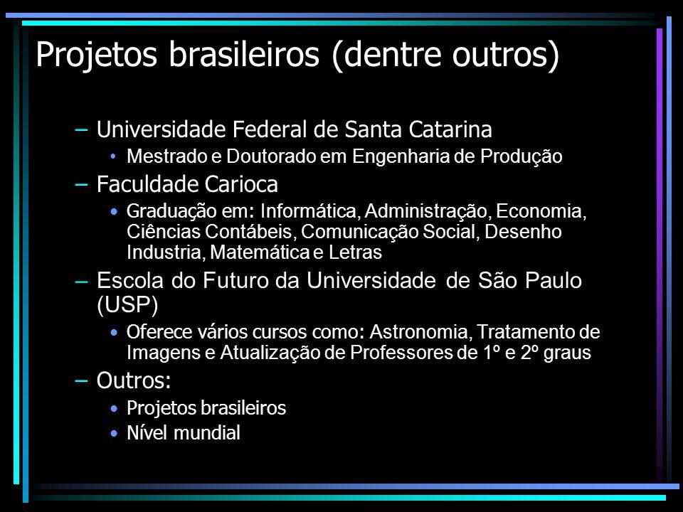 Projetos brasileiros (dentre outros)