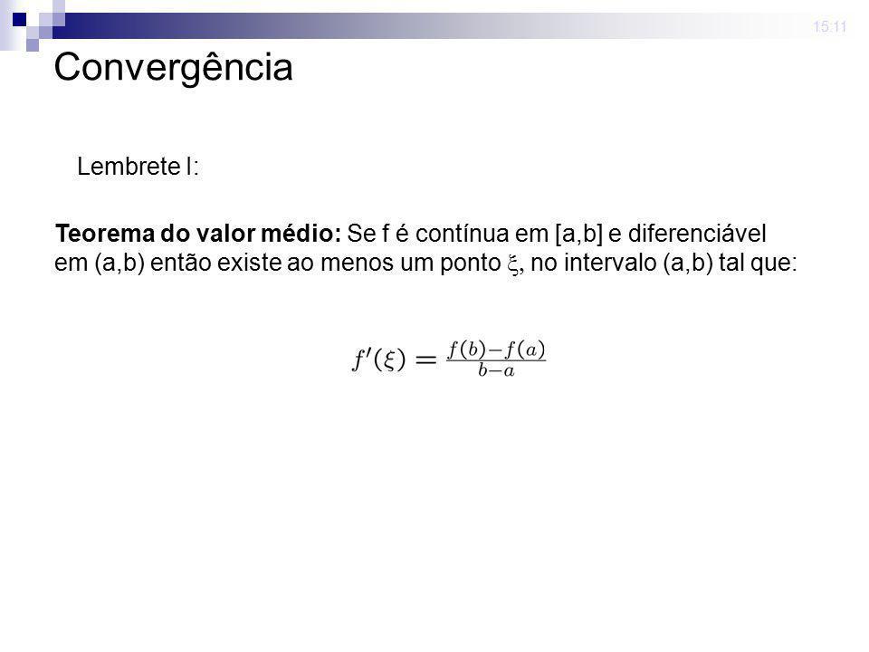 Convergência Lembrete I:
