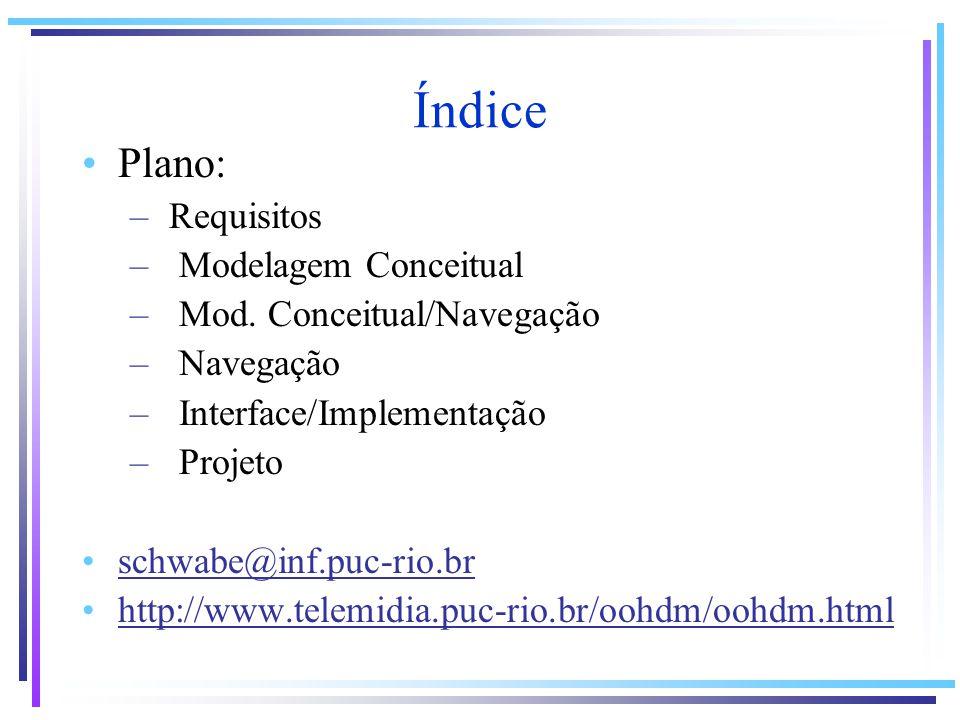 Índice Plano: Requisitos Modelagem Conceitual