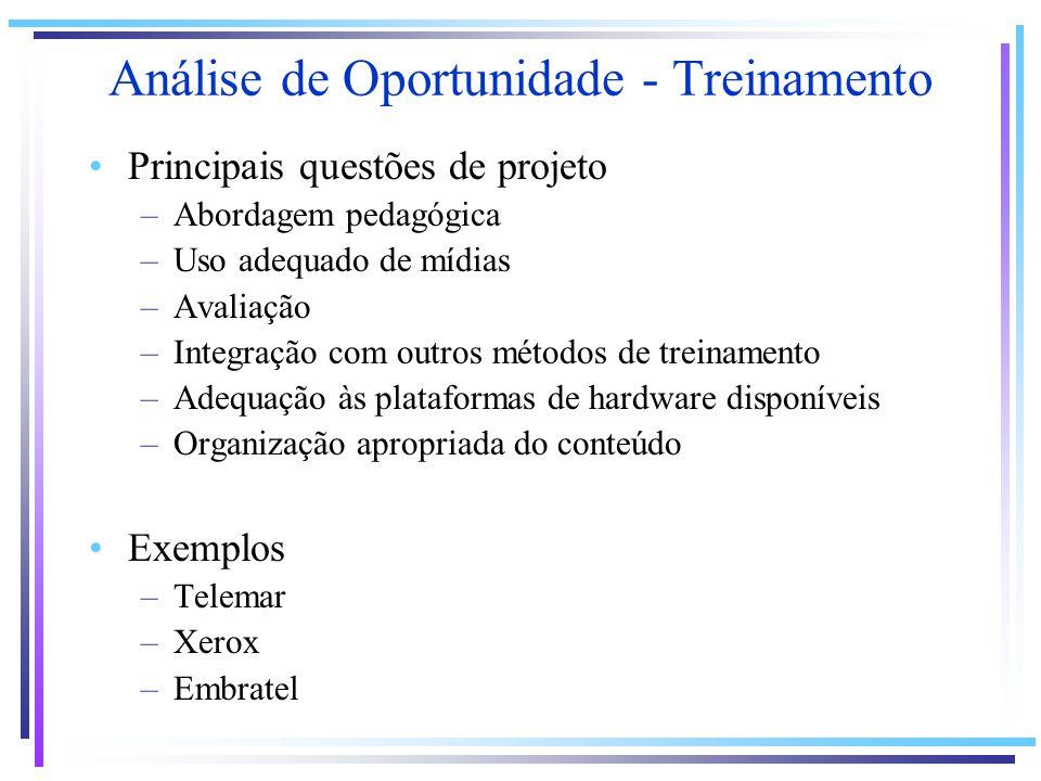 Análise de Oportunidade - Treinamento