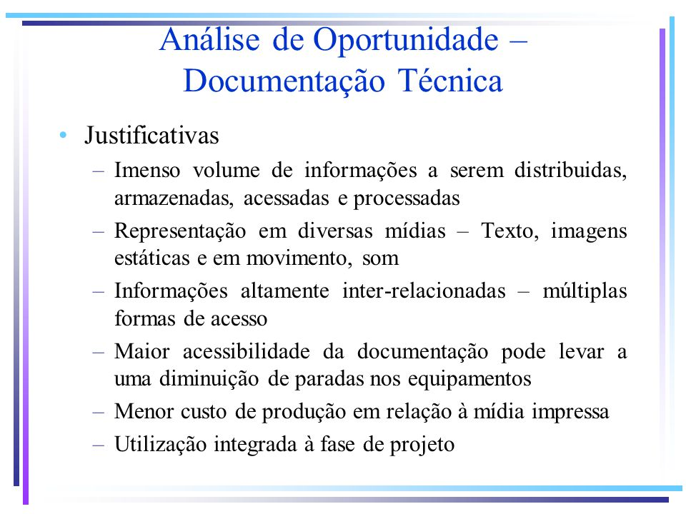 Análise de Oportunidade – Documentação Técnica